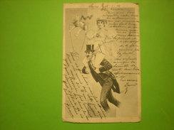 Homme Porte Une Femme Sur Ses épaules + Petit Ange, 1902, Timbre (Z2) - Couples