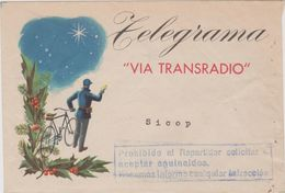 Ref.4. España. Sobre Para Telegrama VIA TRANSRADIO. Tema Aguinaldo - Otros