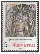 398 Nepal 1981 Hrishikesh Ridi Buddismo Stone Carving Scultura In Pietra - Buddhism