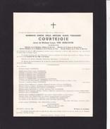 STAVELOT Joseph COURTEJOIE époux VAN GENECHTEN 1880-1956 Ancien échevin Trésorier Fabrique D'Eglise - Obituary Notices
