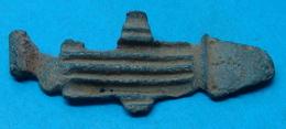 ROMAN CROCODILE FIBULA, NILUS, EGYPT, I A.D. 45 Mm. BEAUTY, VERY RARE, NEEDLE MISSING. - Archéologie