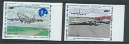 Cameroun 1981 Airline Anniversary 200 F & 300 F Planes Imperforate Singles MNH - Cameroon (1960-...)