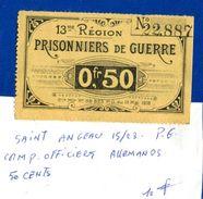Pg  De  Saint  Angeau  15/23  1914/18  50  Cents - Notgeld