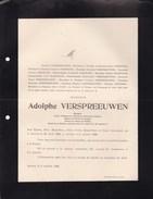 ANVERS ANTWERPEN Senator Adolphe VERSPREEUWEN 1846-1908 Famille MARTROYE DONNERS - Décès