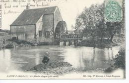 CPA  SAINT FARGEAU Le Moulin Ragon,pecheur Ecrite 1904 - Saint Fargeau