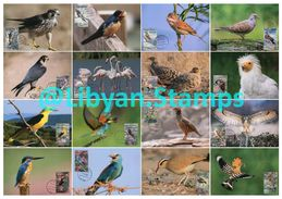 LIBYA - 1982 Birds (16 Maximum-cards) - Birds