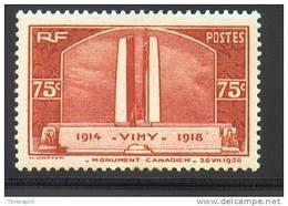 N° 316 Neuf** (Vimy)  COTE= 35 Euros !!! - Neufs