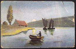 Bulgaria 1924 - Boats On A Lake - Vg Stamp 2 Lv 1921 - Bulgaria