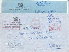 "Letter Aerodrome Base 4, Angola. Obliteration Of Craveiro Lopes Aerodrome Station. ""We All Make Angola Better'.Rare. - Angola"