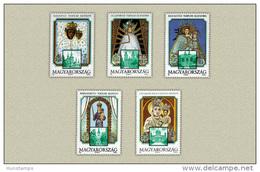 Hungary 1991. Maria Shrine Set MNH (**) Michel: 4143-4147 / 4.40 EUR - Hongarije