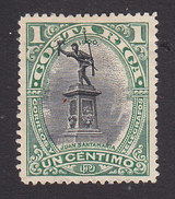 Costa Rica, Scott #45, Mint No Gum, Statue Of Juan Santamaira, Issued 1901 - Costa Rica