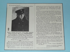 DP Vital WERNIERS Tielt 20 Dec 1922 - CONCENTRATIEKAMP Wolfenbüttel 27 Nov 1944 ( Zie Foto's Voor Detail ) Oorlog ! - Décès