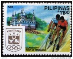 PHILIPPINES Cyclisme, Velo, Bicyclette. Marawi City,  Emis En 1988. **. MNH - Radsport