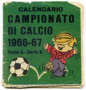 C050> Calendarietto / Calendario Tascabile Calcio = Campionato 1966-67 = Serie A E B - Abbigliamento, Souvenirs & Varie