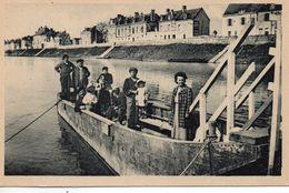 Saint-Mathurin Animée Le Bac Bateau Carte RARE Batellerie Gabare Navigation Loire Navigable Mariniers - Francia