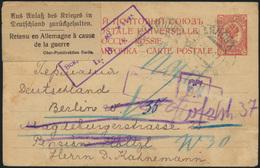 Postsache Rußland Ganzsache Aufkleber Aus Anlaß Des Krieges I Deutschland Berlin - Russland & UdSSR
