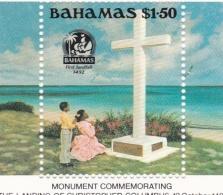 Bahamas 1992 Columbus Souvenir Sheet  MNH/**  (H27) - Bahama's (1973-...)