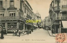 51 Reims, Rue Du Cadran St Pierre, Beau Commerce En Avant...., Affranchie 1912 - Reims
