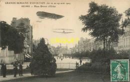 51 Reims, Grande Semaine D'Aviation 1909, Place Drouet D'Erlon, Carte Pas Très Courante - Reims
