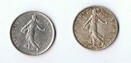 LOT 2 PIECES 5 FRANCS  TYPE   SEMEUSE 1963 ET 1987 - France