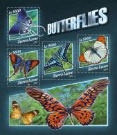SIERRA LEONE 2017 ** Butterflies Schmetterlinge Papillons M/S - IMPERFORATED - DH1745 - Schmetterlinge