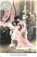 [DC11150] CPA - MAMMA CON FIGLIA - Viaggiata 1906 - Old Postcard - Cartoline