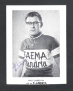 WIELRENNER - CYCLISTE - COUREUR  WILLY DERBOVEN - FLANDRIA - FAEMA -  FOTOKAART + HANDTEKENING  (8944) - Cyclisme