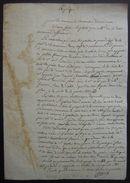 Varambon (Ain) Document à Dater Concernant Le Procès De Jean Baptiste Pin (possession D'une île) - Manuscrits