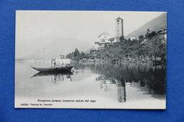Cartolina Svizzera - Rivapiana - Locarno - Veduta Dal Lago - 1920 Ca. - Cartoline