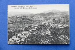 Cartolina Subiaco - Panorama Dal Sacro Speco - 1915 Ca. - Roma