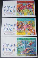 UNO NEW YORK - WIEN - GENF 1996 3 Blöcke FDC - Briefmarken