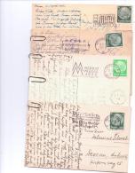5 Verschiedene  ALTE  AK   Mit PROPAGANDASTEMPEL / DR  /  1936 - 1943 Gelaufen - Allemagne