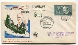 SARRE Saar Centenaire De La Naissance De Rudolf Diesel - Französische Zone