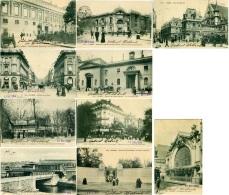 FRANCE  PARIS  Lot 10 CPA  Voyages Par 1904/05 X Catania Signées Gabriel Hébert  Houdan - Cartoline