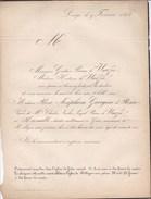 GRACE HOLLOGNE Rose De ROME Veuve Charles Baron De WARZEE D'HERMALLE 61 Ans 1854 - Obituary Notices