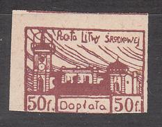 CENTRAL LITHUANIA    SCOTT NO. J1     MINT HINGED     YEAR  1920 - 1919-1939 Republik