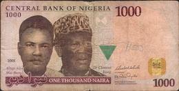 NIGERIA P36a 1000 NAIRA 2005 FIRST DATE FINE Writings - Nigeria