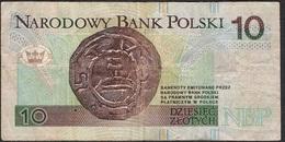 POLAND P173 10 ZLOTYCH 1994   VF Folds - Poland