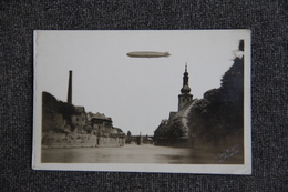 ALLEMAGNE - KREUZNACH - Le 17 Septembre 1929, Carte Photo Du GRAF ZEPELIN Survolant La Ville - Bad Kreuznach