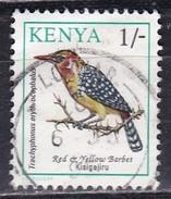 Kenia, 1993 - 1sh Red And Yellow Barbet - Nr.597 Usato° - Kenia (1963-...)