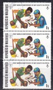 Maldive, 1973 - 1l  Scouts Treating Injured Lamb, Blocco Di Tre - Nr.427 Usato° - Maldive (1965-...)
