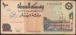 SUDAN P56a 100 DINARS 1994 FINE Writings - Soudan