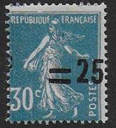 Semeuse - N° 217 *  Variété  Surcharge Déplacée - 1906-38 Semeuse Con Cameo