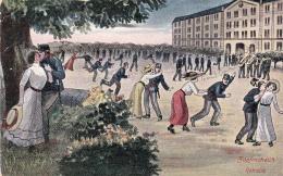 Retraite - Zapfensteich . Carte Humoristique Oblitérée Wallenstadt L1 15.V.1914 - Humoristiques
