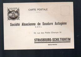 Strasbourg-Schiltigheim Carte Commerciale SOC ALSACIENNE DE SOUDURE AUTOGENE  (PPP6321) - Schiltigheim