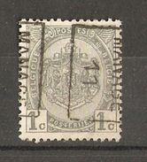 Belgique - 1911 - Préoblitéré Manage - Armoiries - Cob 81 - Roulettes 1910-19