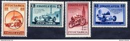 YUGOSLAVIA 1939 International Motor Races Set LHM / *.  Michel 381-84 - 1931-1941 Kingdom Of Yugoslavia