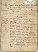 VP11.459 - MOYAUX - Acte De 1828 - Entre Mme GRIBEL à NEUVILLE DU BOSC & MICHEL Vente De Terre - Manuscrits