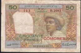 COMORES P2b 50 FRANCS 1960   FINE - Comoros