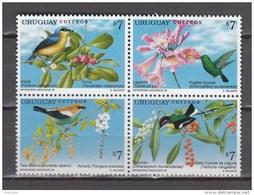 Uruguay 1999,4V In Block,birds,vogels,vögel,oiseaux,pajaros,uccelli,aves,MNH/Postfris(A3438) - Non Classés